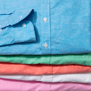 custom made shirts in a stack